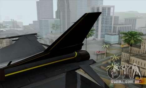 F-16XL para GTA San Andreas traseira esquerda vista