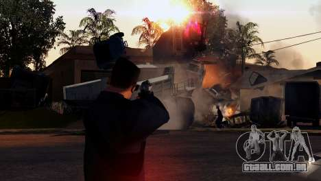 Transporte V2, em vez de balas para GTA San Andreas