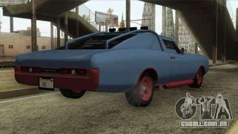 GTA 5 Imponte Dukes ODeath IVF para GTA San Andreas traseira esquerda vista