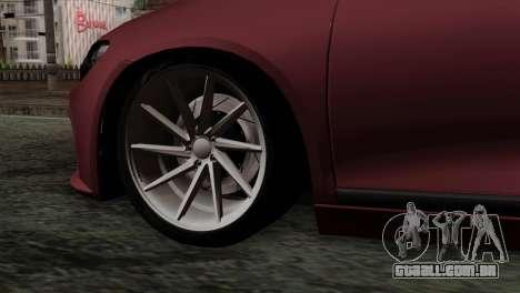 Volkswagen Scirocco R para GTA San Andreas traseira esquerda vista