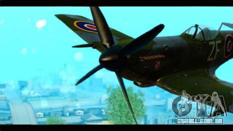 Supermarine Spitfire F MK XVI 318 SQ para GTA San Andreas vista traseira
