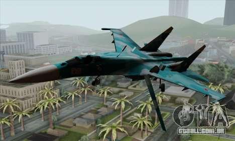 SU-27 Flanker A Warwolf Squadron para GTA San Andreas