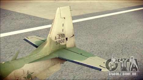 Embraer EMB-314 Super Tucano E para GTA San Andreas traseira esquerda vista