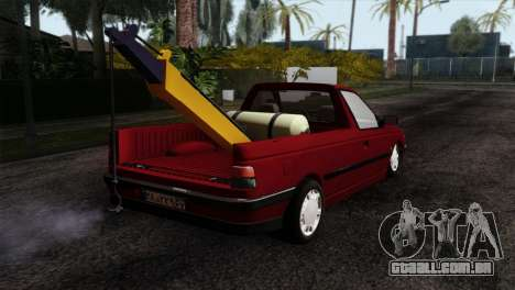 Peugeot 405 Pickup para GTA San Andreas esquerda vista