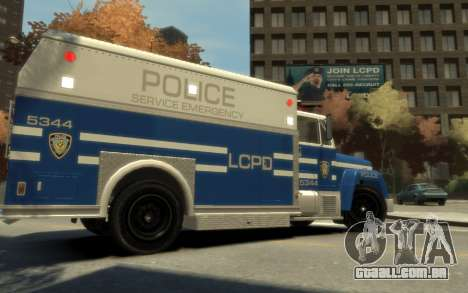 GTA 3 Enforcer HD para GTA 4 esquerda vista