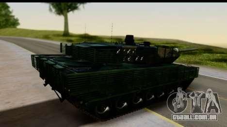Leopard 2A6 Woodland para GTA San Andreas esquerda vista