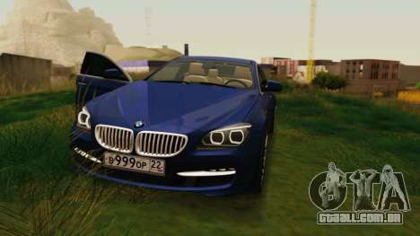 BMW 6 Series Gran Coupe 2014 para GTA San Andreas vista traseira