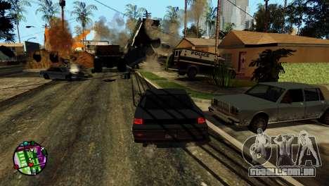 Transporte V2, em vez de balas para GTA San Andreas décima primeira imagem de tela