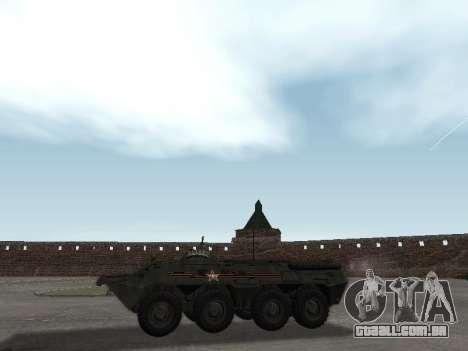 BTR 80 Frente para GTA San Andreas traseira esquerda vista