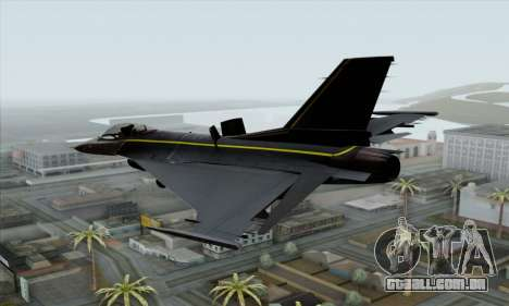 F-16XL para GTA San Andreas esquerda vista