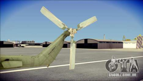 Mil Mi-8 Polish Air Force Afganistan para GTA San Andreas traseira esquerda vista