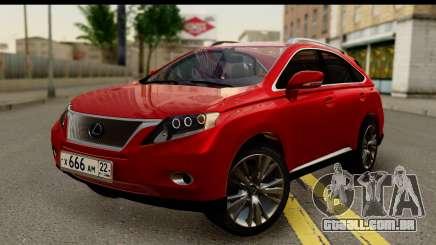 Lexus RX450h para GTA San Andreas