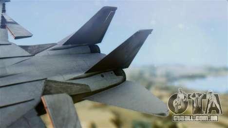 F-14A Tomcat VF-111 Sundowners Low Visibility para GTA San Andreas traseira esquerda vista