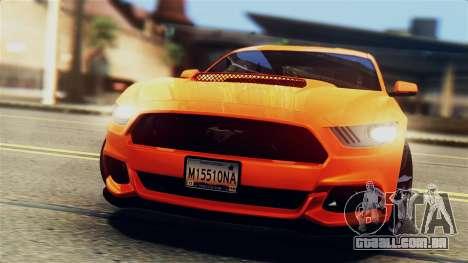 Ford Mustang GT 2015 Stock Tunable v1.0 para GTA San Andreas vista inferior