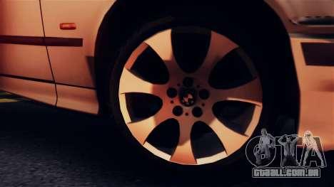 BMW 316i Touring para GTA San Andreas vista traseira