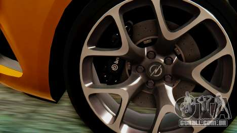 Opel Astra J OPC para GTA San Andreas vista direita
