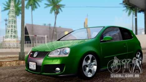 Volkswagen Golf Mk5 GTi Tunable PJ para GTA San Andreas traseira esquerda vista