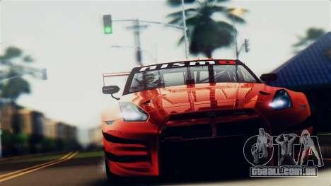 Nissan GT-R (R35) GT3 2012 PJ5 para GTA San Andreas vista direita