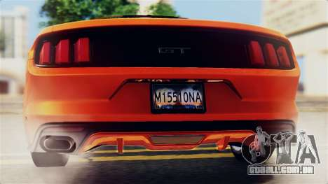 Ford Mustang GT 2015 Stock Tunable v1.0 para o motor de GTA San Andreas