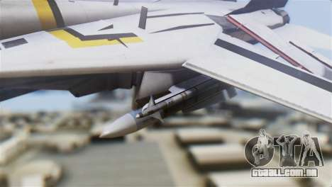 F-14D Tomcat Macross Yellow & Black para GTA San Andreas vista direita