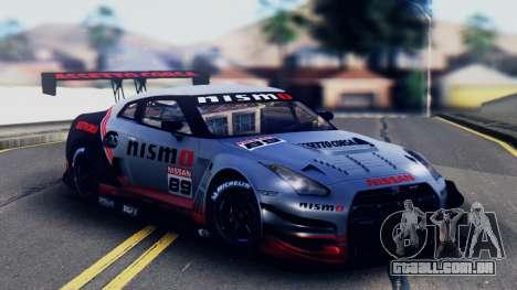 Nissan GT-R (R35) GT3 2012 PJ5 para GTA San Andreas vista superior