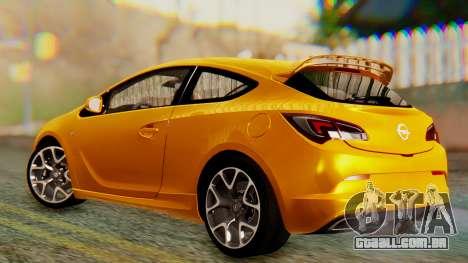 Opel Astra J OPC para GTA San Andreas traseira esquerda vista