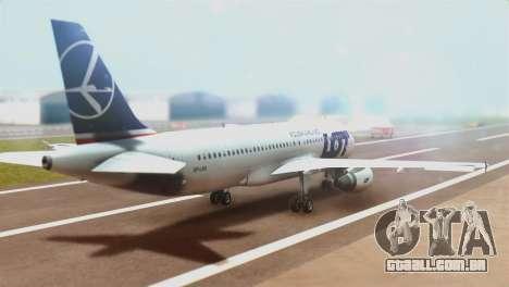 LOT Polish Airlines Airbus A320-200 (New Livery) para GTA San Andreas esquerda vista