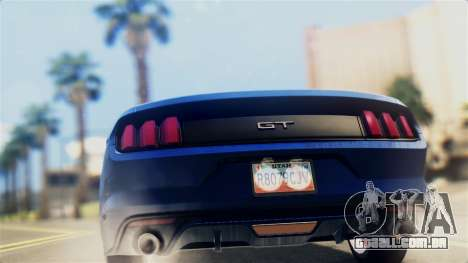 Ford Mustang GT 2015 Stock Tunable v1.0 para GTA San Andreas vista direita