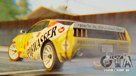 GTA 5 Vapid Dominator Pisswasser IVF para GTA San Andreas esquerda vista