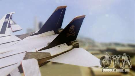 F-14D Tomcat Macross Yellow & Black para GTA San Andreas traseira esquerda vista