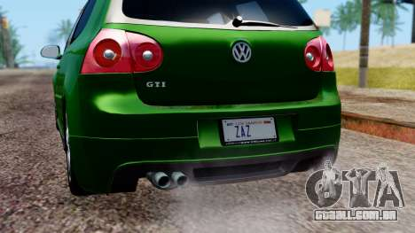 Volkswagen Golf Mk5 GTi Tunable PJ para GTA San Andreas vista superior