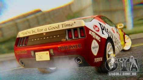 GTA 5 Vapid Dominator Pisswasser SA Lights para GTA San Andreas esquerda vista