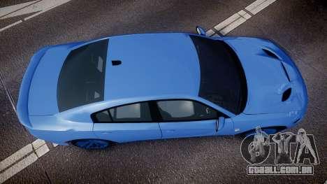 Dodge Charger SRT 2015 Hellcat para GTA 4 vista direita
