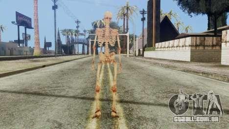 Skeleton Skin v1 para GTA San Andreas terceira tela