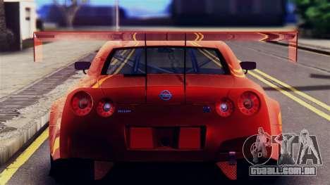 Nissan GT-R (R35) GT3 2012 PJ5 para GTA San Andreas vista traseira