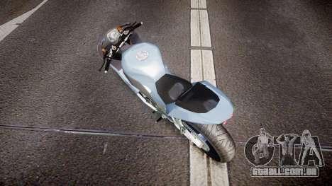 Kawasaki Ninja ZX-10R para GTA 4 traseira esquerda vista