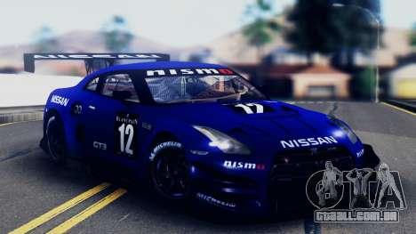 Nissan GT-R (R35) GT3 2012 PJ5 para o motor de GTA San Andreas