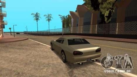 Melhoria física de condução para GTA San Andreas segunda tela