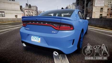 Dodge Charger SRT 2015 Hellcat para GTA 4 traseira esquerda vista