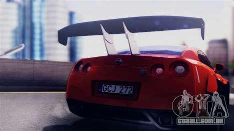 Nissan GT-R R35 LW para GTA San Andreas vista direita