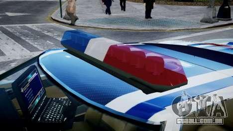 Bullet Police Car para GTA 4 vista de volta