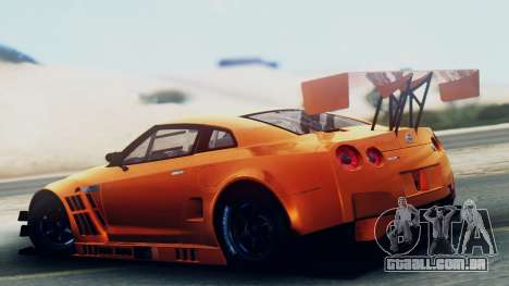 Nissan GT-R (R35) GT3 2012 PJ5 para GTA San Andreas esquerda vista