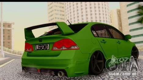 Honda Civic FD6 para GTA San Andreas esquerda vista