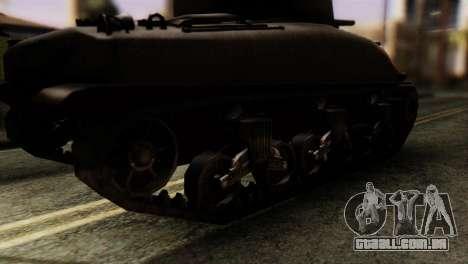 M4 Sherman v1.1 para GTA San Andreas traseira esquerda vista
