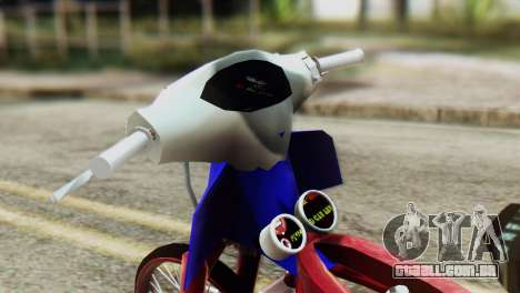 Dream 110 cc of Thailand para GTA San Andreas traseira esquerda vista