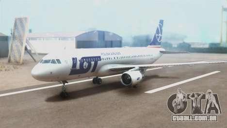 LOT Polish Airlines Airbus A320-200 (New Livery) para GTA San Andreas