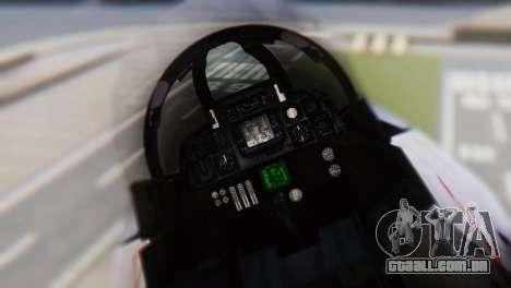 Grumman F-14A Tomcat para GTA San Andreas vista traseira