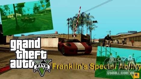 Habilidade especial de Franklin indicador para GTA San Andreas