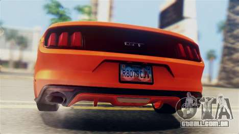 Ford Mustang GT 2015 Stock Tunable v1.0 para GTA San Andreas vista superior