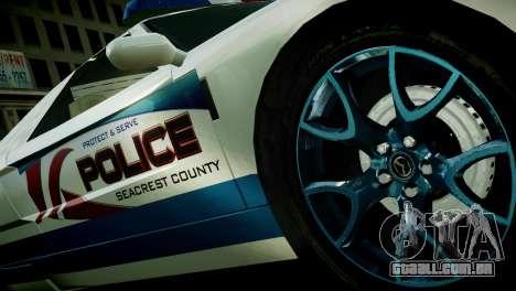 Bullet Police Car para GTA 4 traseira esquerda vista